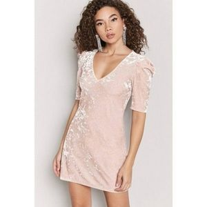 Forever 21 Contemporary Mini Dress Pink Sm…